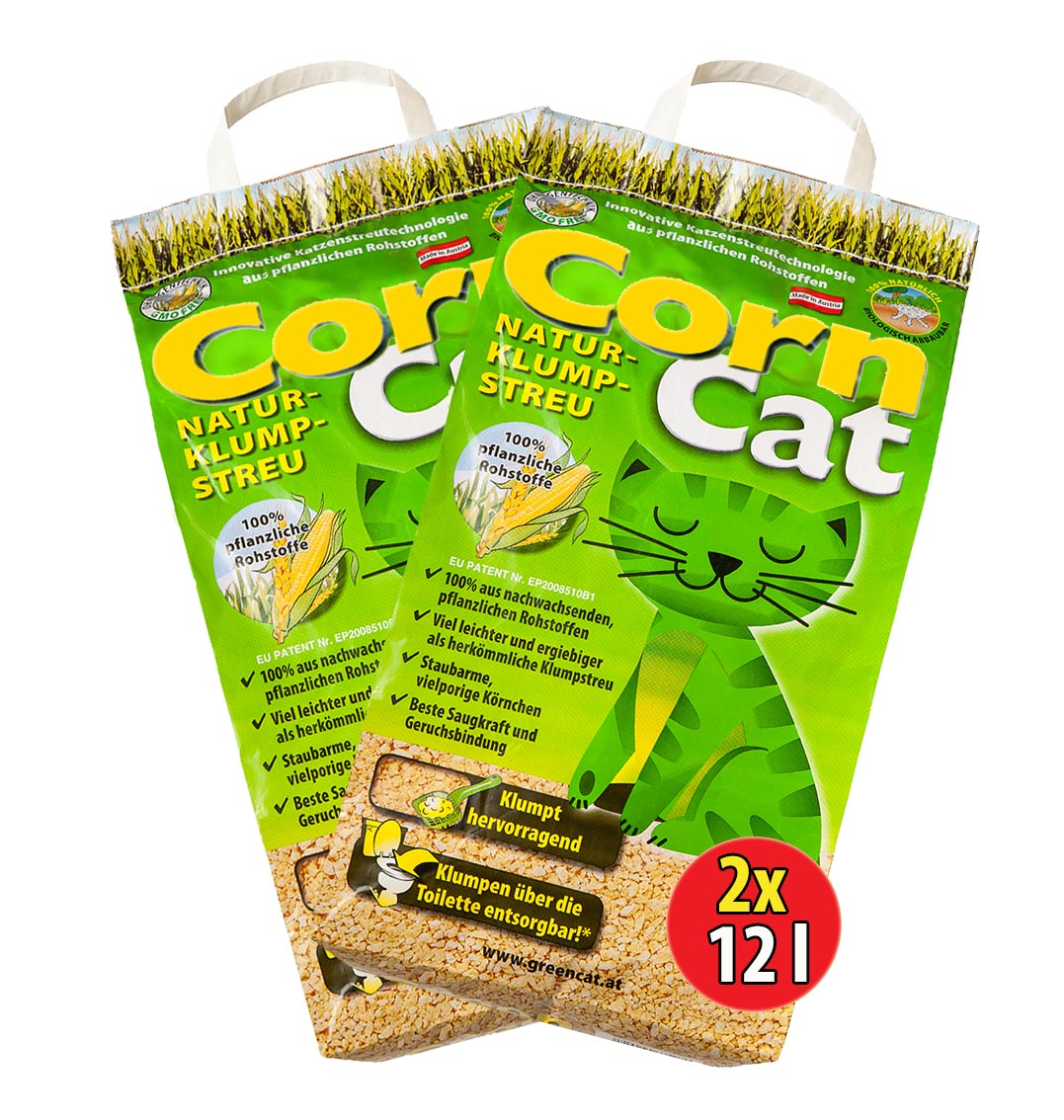 corncat naturklumpstreu ko plus green cat s katzenstreu best streu greencat ebay. Black Bedroom Furniture Sets. Home Design Ideas